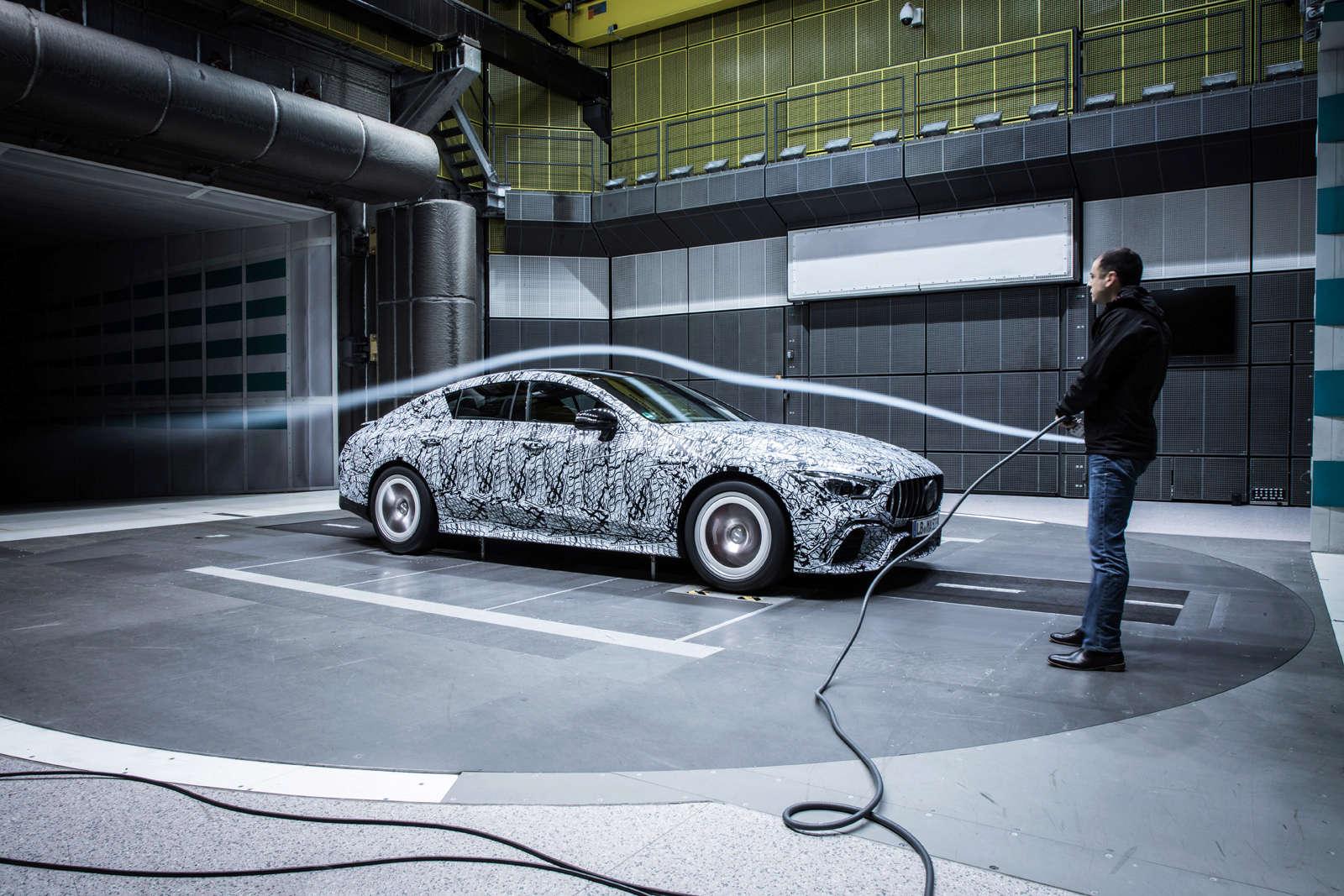 (X290): Fotos da Mercedes-AMG GT4 em testes no túnel de vento F68cd610