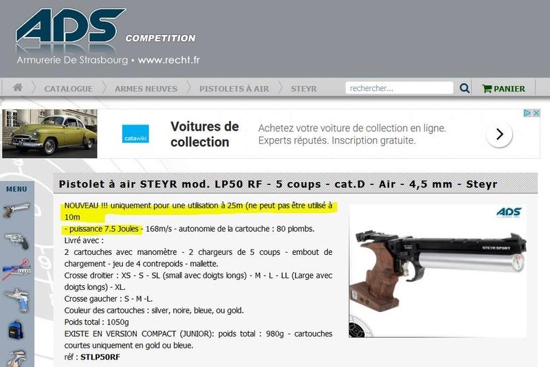 Nombres de Joules maxi pour Tir au pistolet 10 m cinq coup Steyr_11