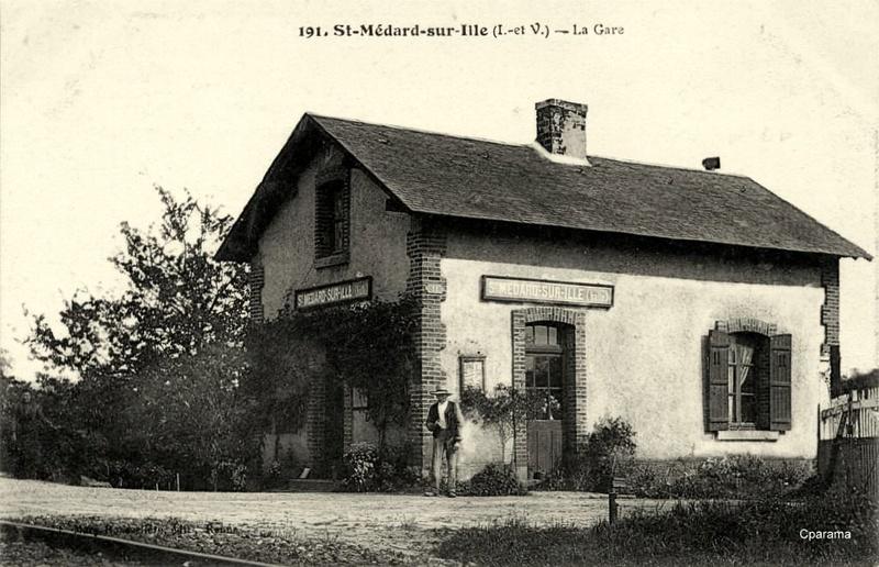 Halte de St Médard:Ille (ligne Rennes-Dol)  22/02/18 13935110