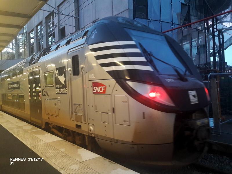 Ambiance gare de Rennes 31/12/17 20171404