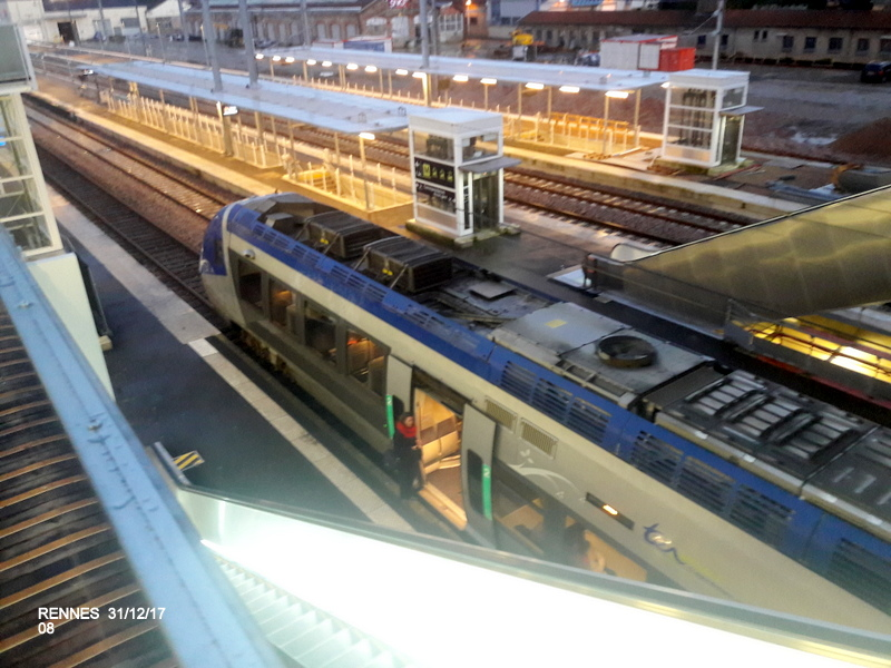 Ambiance gare de Rennes 31/12/17 20171411
