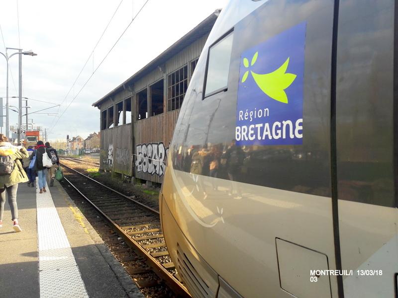 Gare de Montreuil/I (ligne Rennes-St Malo) 13/03/18 20180774