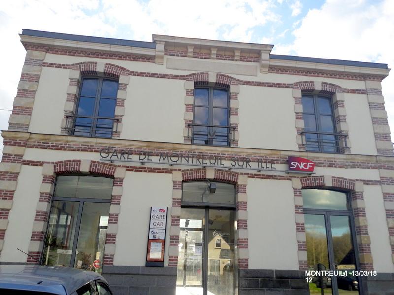 Gare de Montreuil/I (ligne Rennes-St Malo) 13/03/18 20180790