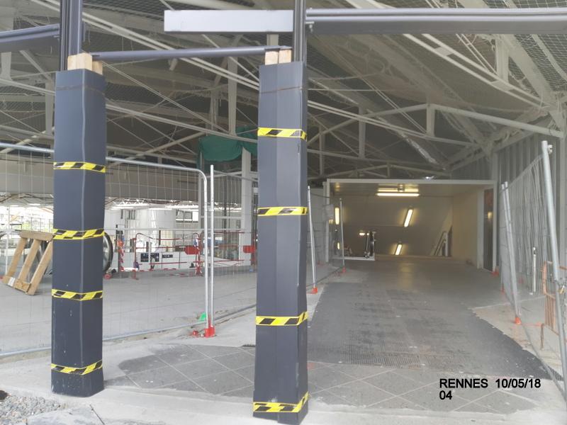 "Gare de Rennes : ambiance ""bleu-gwen du"" 10/05/18 20181057"