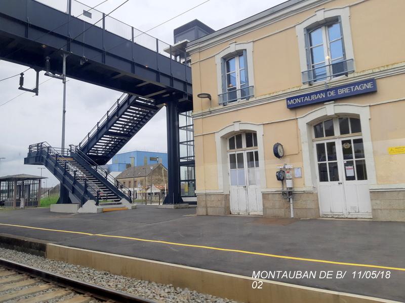 Gare de Montauban de Bretagne (Menezalban) [11/05/18] 20181065