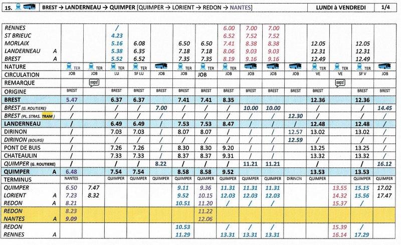BREST / QUIMPER Horaires des circulations ferroviaires à compter du 10 décembre 2017 Image014