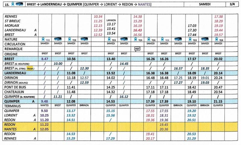 BREST / QUIMPER Horaires des circulations ferroviaires à compter du 10 décembre 2017 Image016