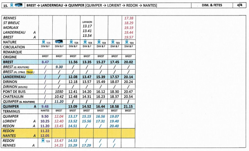 BREST / QUIMPER Horaires des circulations ferroviaires à compter du 10 décembre 2017 Image018