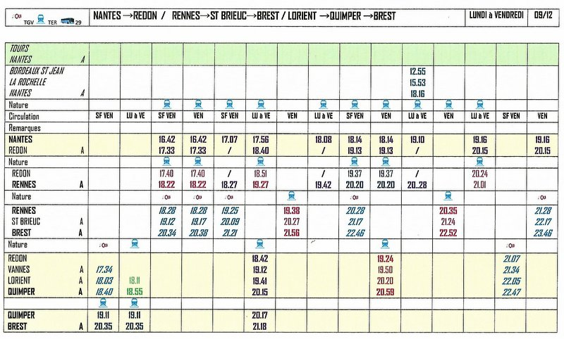BREST→QUIMPER →LORIENT / ST BRIEUC→RENNES / REDON →NANTES 2017/18 Image055