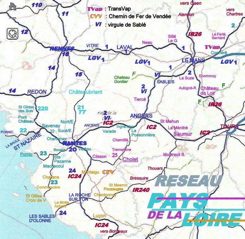 CARTES  RESEAU RAIL BRETAGNE PAYS DE LA LOIRE Image066