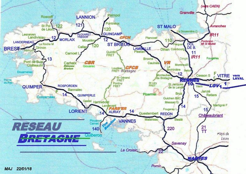 CARTES  RESEAU RAIL BRETAGNE PAYS DE LA LOIRE Image067