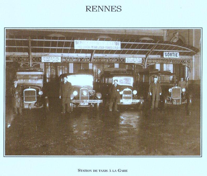 Gare de Rennes années 1900 ; station de taxis Image133