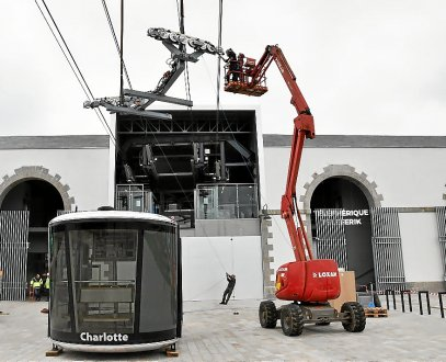 Brest. Le téléphérique reprend demain avec ses deux cabines La-deu11
