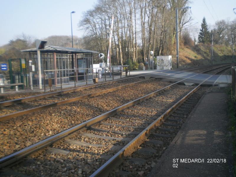 Halte de St Médard:Ille (ligne Rennes-Dol)  22/02/18 P9190011