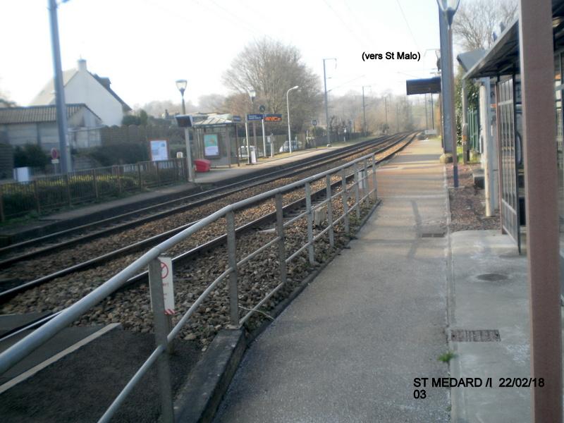 Halte de St Médard:Ille (ligne Rennes-Dol)  22/02/18 P9190012