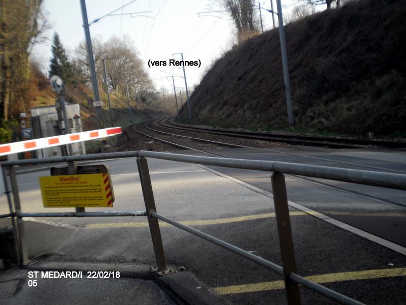 Halte de St Médard:Ille (ligne Rennes-Dol)  22/02/18 P9190014