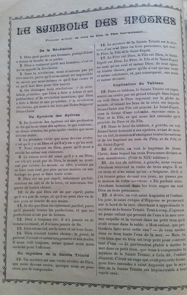 Catéchisme en images du père Vincent Paul Bailly – Tableau 2 Tablea13