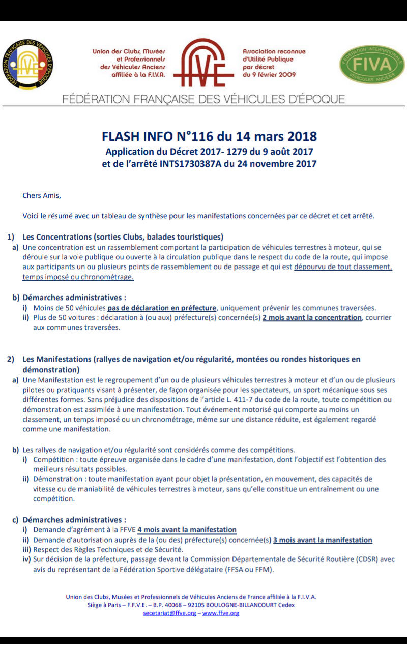 Flash info pour les manifestations Screen11