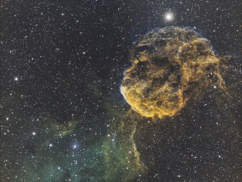 IC443 La nébuleuse de la méduse en SHO depuis Sirene Ic443-10