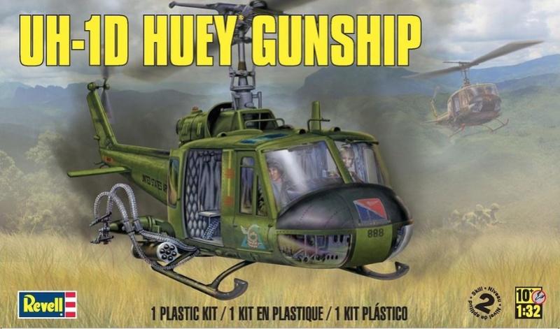 Bell UH-1D Huey gunship Revell 32e S-l10010
