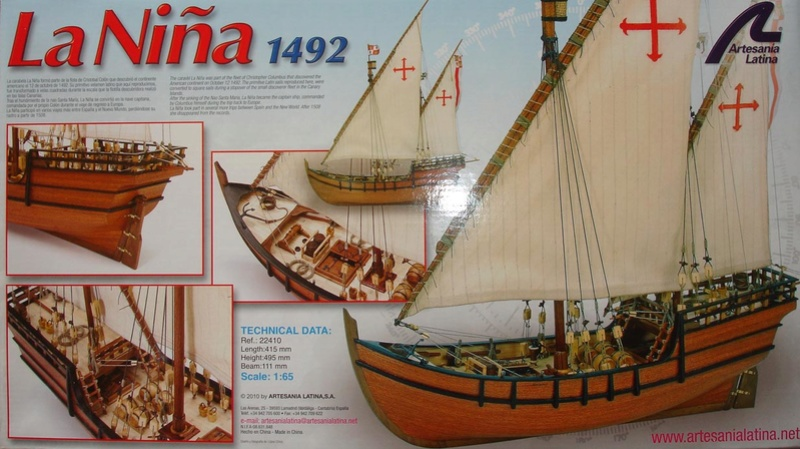 La NINA 1492 au 1/65 d'ARTESANIA LATINA La-nin10