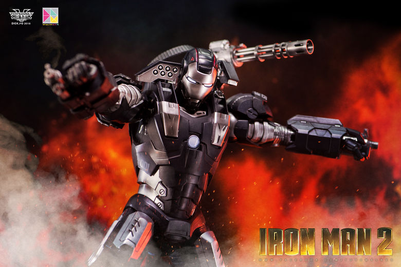 Iron Man 2 : War Machine - 1/9 Diecast (King Arts) 00085711