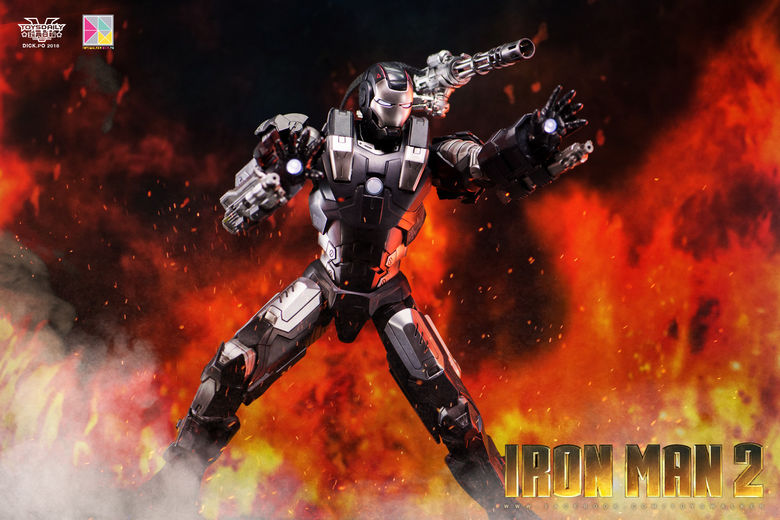 Iron Man 2 : War Machine - 1/9 Diecast (King Arts) 00085811