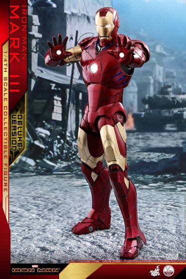 Iron Man 1-  Mark III (3) 1/4 - Deluxe version and normal version (Hot toys) 13354510