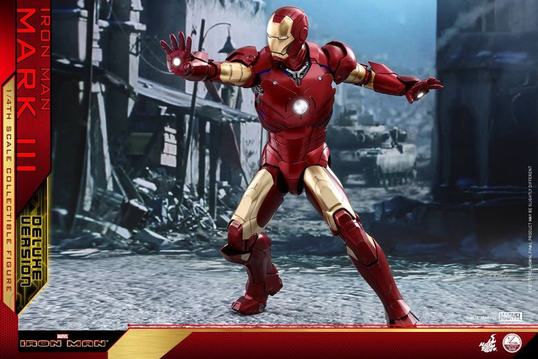 Iron Man 1-  Mark III (3) 1/4 - Deluxe version and normal version (Hot toys) 13355110