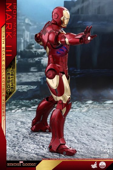 Iron Man 1-  Mark III (3) 1/4 - Deluxe version and normal version (Hot toys) 13355710