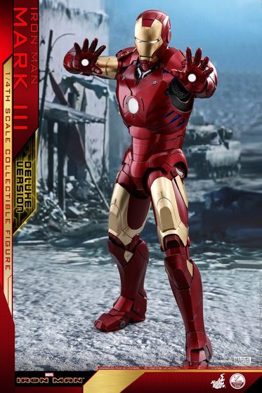 Iron Man 1-  Mark III (3) 1/4 - Deluxe version and normal version (Hot toys) 13360310