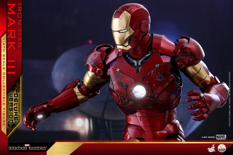 Iron Man 1-  Mark III (3) 1/4 - Deluxe version and normal version (Hot toys) 13360910