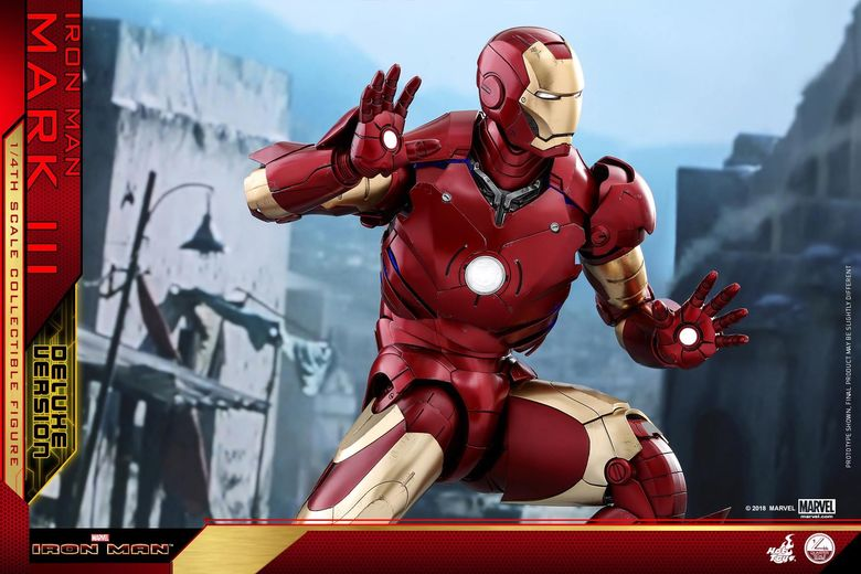 Iron Man 1-  Mark III (3) 1/4 - Deluxe version and normal version (Hot toys) 13361510