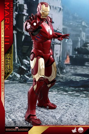 Iron Man 1-  Mark III (3) 1/4 - Deluxe version and normal version (Hot toys) 13362610