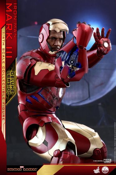 Iron Man 1-  Mark III (3) 1/4 - Deluxe version and normal version (Hot toys) 13363210
