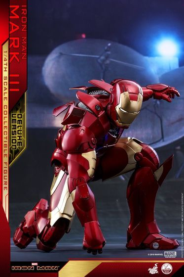 Iron Man 1-  Mark III (3) 1/4 - Deluxe version and normal version (Hot toys) 13364210