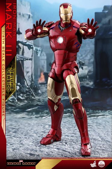 Iron Man 1-  Mark III (3) 1/4 - Deluxe version and normal version (Hot toys) 13364710