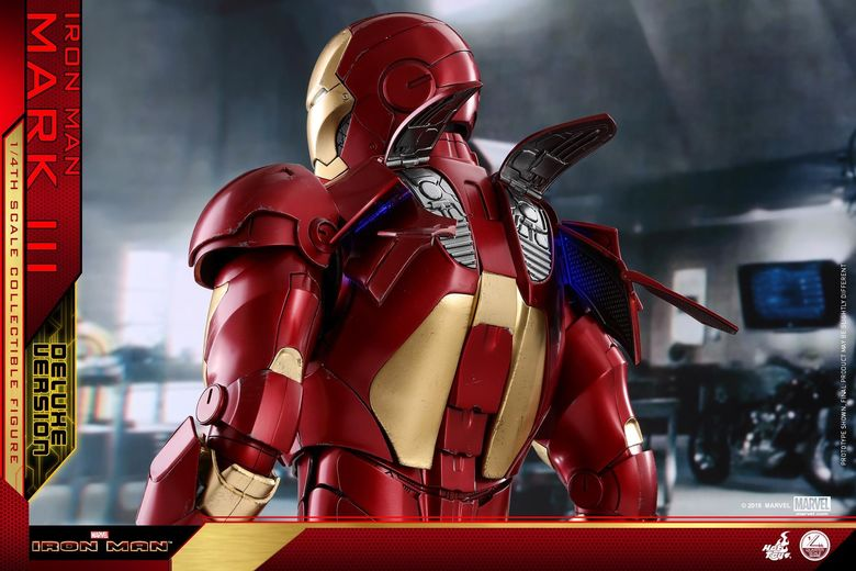Iron Man 1-  Mark III (3) 1/4 - Deluxe version and normal version (Hot toys) 13365310