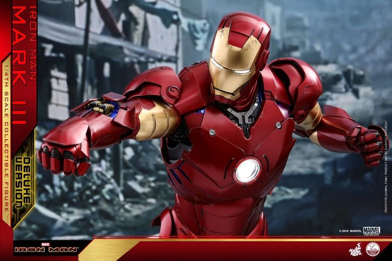 Iron Man 1-  Mark III (3) 1/4 - Deluxe version and normal version (Hot toys) 13365810