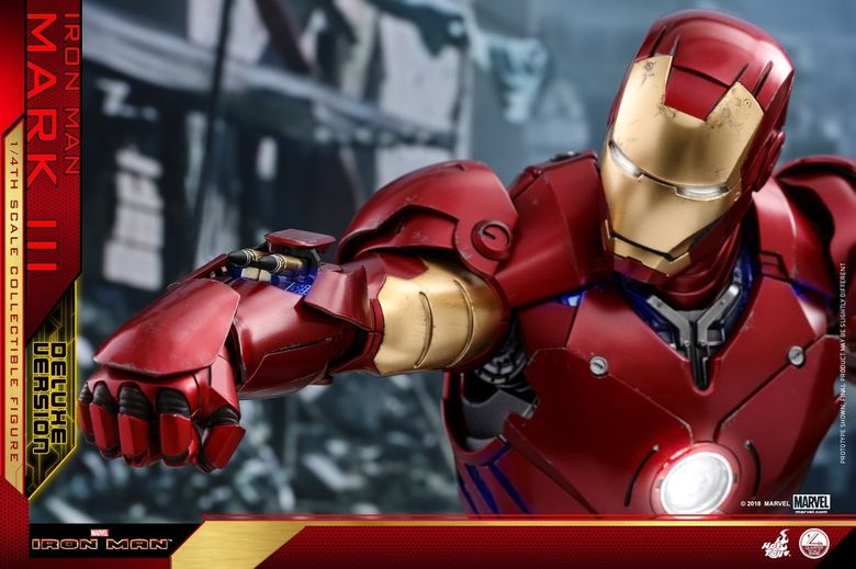 Iron Man 1-  Mark III (3) 1/4 - Deluxe version and normal version (Hot toys) 13370410