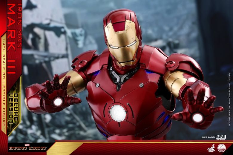 Iron Man 1-  Mark III (3) 1/4 - Deluxe version and normal version (Hot toys) 13370910