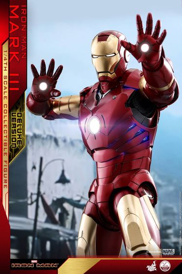 Iron Man 1-  Mark III (3) 1/4 - Deluxe version and normal version (Hot toys) 13371510