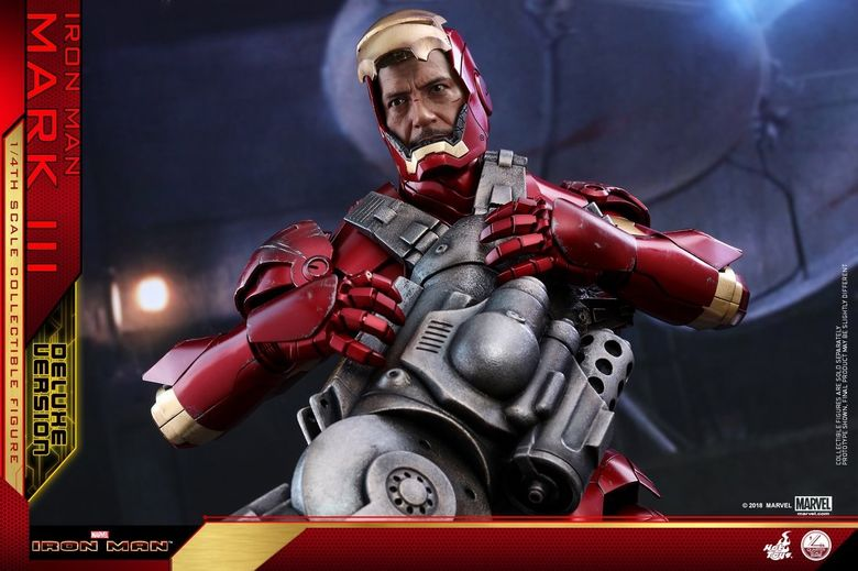 Iron Man 1-  Mark III (3) 1/4 - Deluxe version and normal version (Hot toys) 13372010
