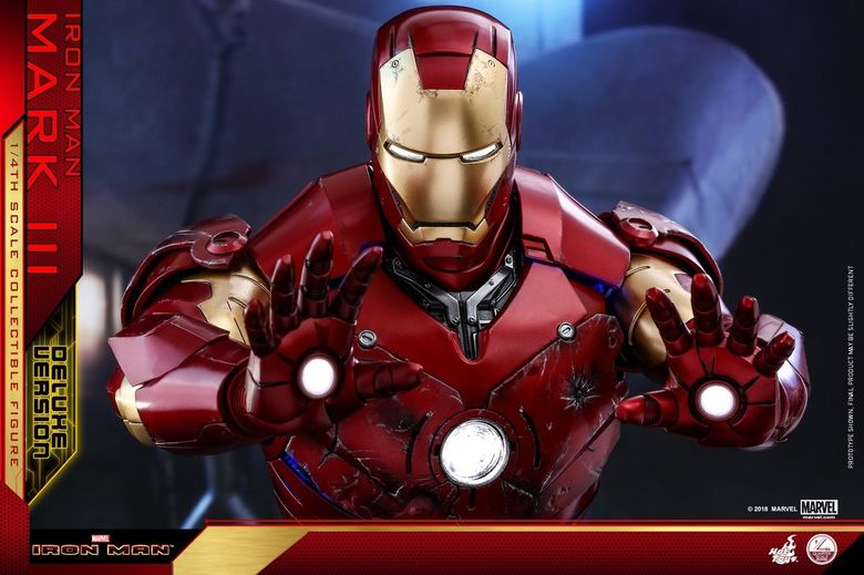 Iron Man 1-  Mark III (3) 1/4 - Deluxe version and normal version (Hot toys) 13372410