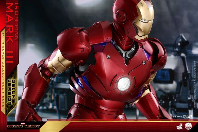 Iron Man 1-  Mark III (3) 1/4 - Deluxe version and normal version (Hot toys) 13372910