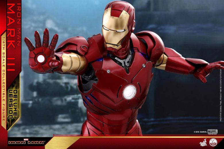 Iron Man 1-  Mark III (3) 1/4 - Deluxe version and normal version (Hot toys) 13373310