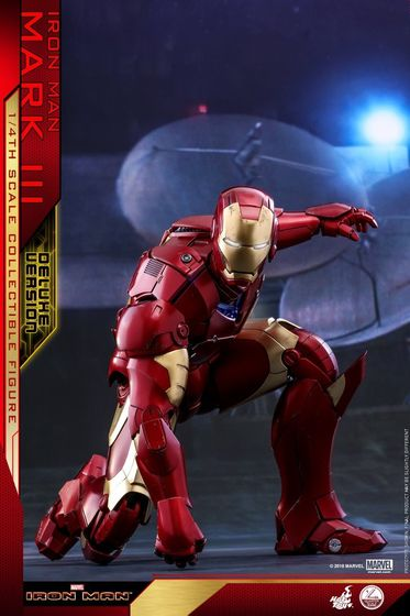 Iron Man 1-  Mark III (3) 1/4 - Deluxe version and normal version (Hot toys) 13373810