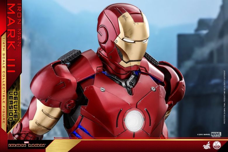 Iron Man 1-  Mark III (3) 1/4 - Deluxe version and normal version (Hot toys) 13374210