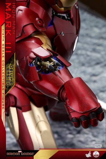 Iron Man 1-  Mark III (3) 1/4 - Deluxe version and normal version (Hot toys) 13374710