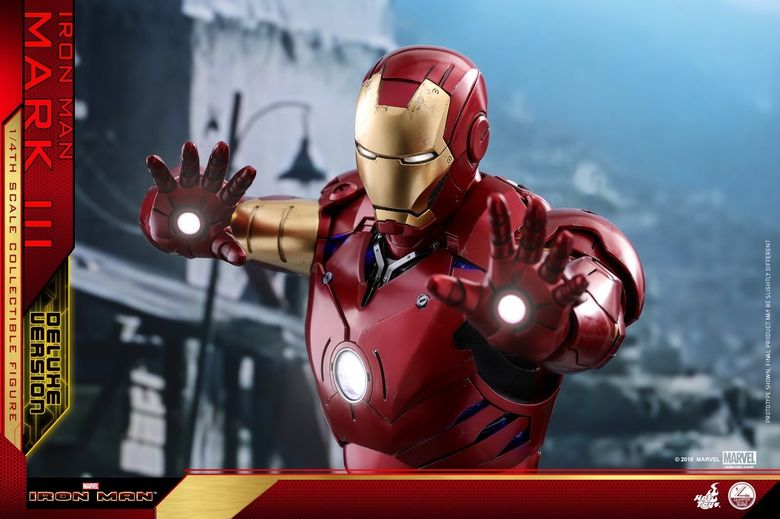 Iron Man 1-  Mark III (3) 1/4 - Deluxe version and normal version (Hot toys) 13375310